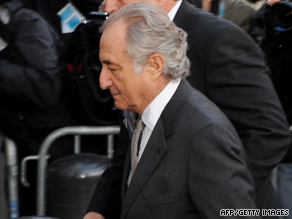 Bernard Madoff walks to federal court in New York in March.