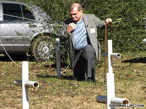 There are 31 crosses on school grounds. Records show the graves belong to fire and flu victims.