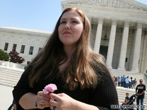 Savana Redding leaves the U.S Supreme Court in April. She was 13 when she was strip-searched.