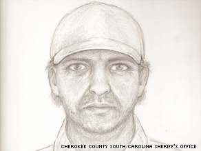 Police say the suspect in five slayings was a man resembling this sketch.