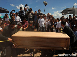 Mourners carry the coffin of Benjamin LeBaron, 32, on Thursday in the Mexican state of Chihuahua.