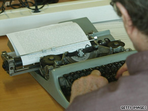 Records show New York City signed a $432,900 contract for typewriter maintenance with in 2008.