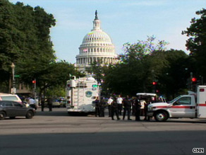 The shooting caused police to temporarily seal some entrances to the U.S. Capitol Complex.