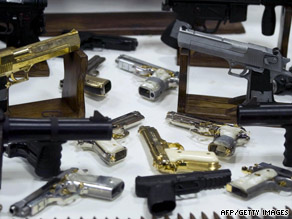 These are weapons that the Mexican army said it seized from the ruthless Gulf Cartel in 2008.