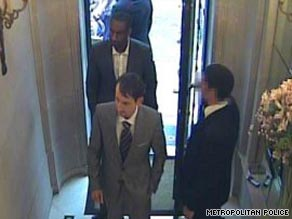 Security camera footage shows images of the men police were looking for.