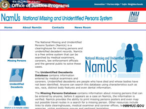 The NamUs Web site has helped in closing 147 missing persons cases and ID'ing 149 decedents since its launch.