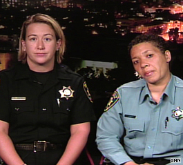 Allison Jacobs, left, and Lisa Campbell of the UC Berkeley Police Department