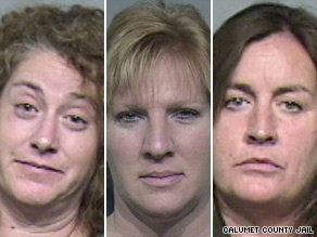 Michelle Belliveau, Wendy Sewell, Therese Ziemann and the man's wife appeared in court Tuesday.