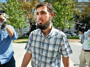 Terror suspect Najibullah Zazi, seen here September 17, is accused of plotting to bomb a New York target.