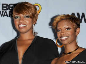 Kandi Burruss, at right with co-star NeNe Leakes, appeared at the BET Awards in June.