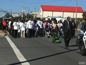 The Southern Christian Leadership Conference held a silent march for Victor Steen in Pensacola, Florida.
