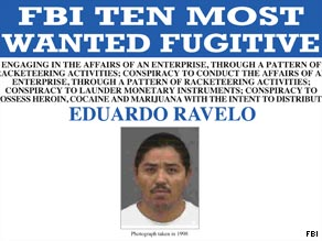 Alleged cartel hit man Eduardo Ravelo has been added to the FBI's most wanted list.