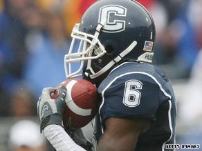 Jasper Howard, 20, was a cornerback for the University of Connecticut Huskies.