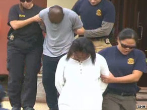 Federal agents arrest two suspects last week in Los Angeles on charges of Medicare fraud.