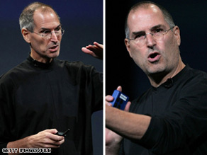 Jobs joked about his health at Apple Headquarters in October 2008.