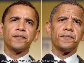 This photo illustration projects what President-elect Barack Obama may look like in four years.