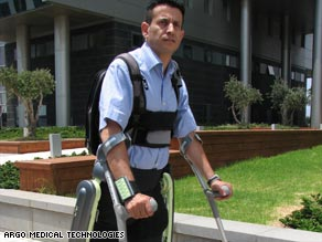 A lightweight robotic suit can help some wheelchair users walk.