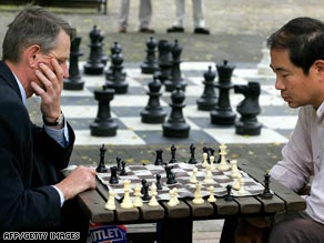 Chess players, with experience, learn how to make rapid judgments about their moves.
