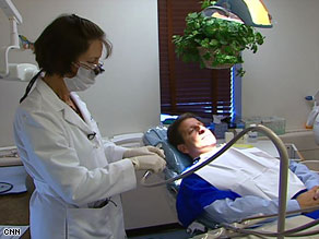 Dr. Jane Puskas found that patient Alan Franco has been grinding his teeth.