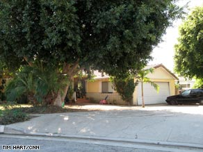 The octuplets' family's home in Whittier, California, near Los Angeles.