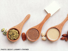Pistachios, pecans, hazelnuts, almonds, and others can be made into tasty spreads and put in recipes.
