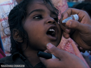 The more doses of the vaccination a child receives, the better protected the child is from contracting polio.