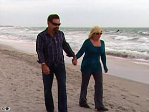 Pamela Rinchich, with husband Jim, was diagnosed with cancer shortly after being laid off.