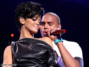 Singers Rihanna and Chris Brown, shown performing in December, are rumored to be back together.