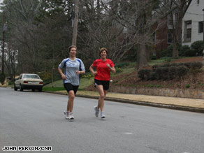 Jessica Tuttle, 50, left, and Amanda Wagner, 49, have been running for more than 30 years.