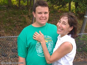 Didi Conn says she struggled to come to terms with her son Danny's autism.