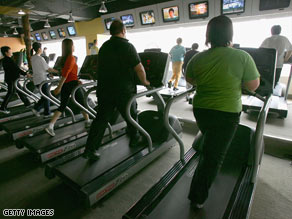 Patients in the exercise group were given exercise training and either a treadmill or an exercise bike.
