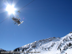 When snow falls, pollen doesn't -- making ski resorts like Snowbird a great destination for those with allergies.