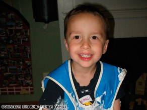 Jesse's mastoiditis was discovered after his mother noticed that something was not right with his ear.