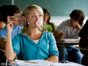 In one study, students who chewed gum had better final grades compared with the non-chompers.