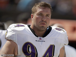 Justin Bannan, who plays for the Baltimore Ravens, participated in the study on NFL players.