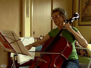 Lillian Waugh says playing the cello is a mindfulness technique she practices.