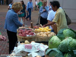 The concept of selling fresh local produce has spread through various national hospitals.