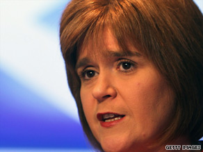 "Scottish Health Secretary Nicola Sturgeon stressed most cases of ""swine flu"" are not severe."