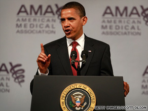 Overhauling health care is key to U.S. economic stability, President Obama tells doctors Monday.