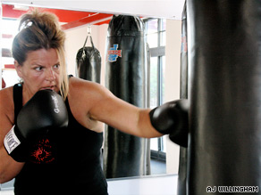 "Maggie Rajnic says group boxing class helped her develop ""a a fitness component to my body."""