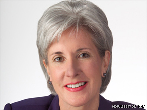 Kathleen Sebelius says health care costs are a huge and growing burden on the economy.