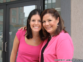 Lindsay Avner (left, with her mother)  had a mastectomy after testing positive for the BRCA gene mutation.