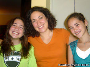 Raffi Darrow decided not to get the HPV vaccine for daughters Wendy, left, 11, and  Alice, 12.