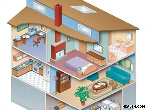Home allergy-fighting tips include: wash bedding in hot water, keep windows closed, keep room temperatures low.