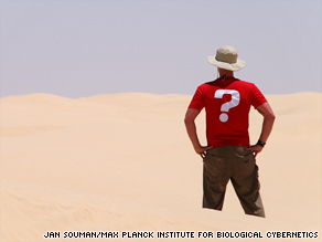 Researchers at the Max Planck Institute for Biological Cybernetics had people wander around a desert.