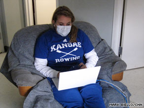 Arielle Spiridigliozzi is one of 350 students who have contracted H1N1 at the University of Kansas.
