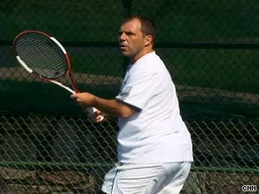 Sean Bugg, 41, has been playing tennis since he was 9. Despite injuries, he continues to hit the court.