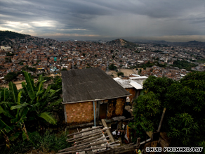 Complexo do Alemao, a poor area of Rio de Janeiro controlled by armed drug-dealers
