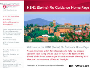 WSU Web page gives information, advice to students who suspect they may have H1N1 virus.