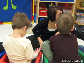 Children at the Marcus Autism Center in Atlanta, Georgia, receive instruction on March 5, 2009.